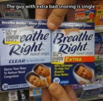 The Guy With Extra Bad Snoring Is...