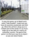 To Play This Game Go To Map Crunch