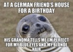At A German Friend's House...