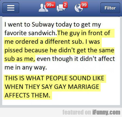 i went to subway today...