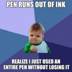 Pen Runs Out Of Ink...