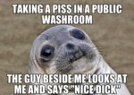 Taking A Piss In A Public Washroom...