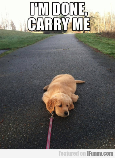 I M Done Carry Me.