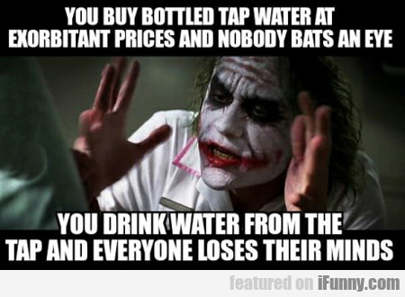 you buy bottled tap water at...