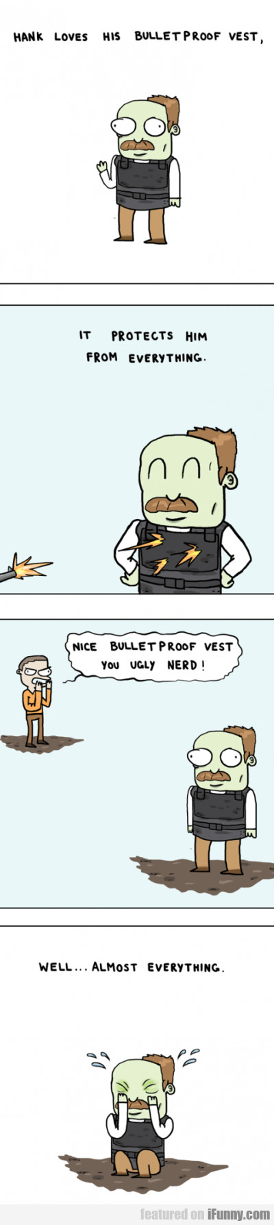 Hank Loves His Bulletproof Vest