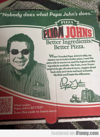 Elton John's... | iFunny.com Papa Johns Pizza Box Opened