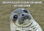 Teacher Yells At Student For Having Her Head...