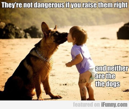 they re not dangerous if you raise them