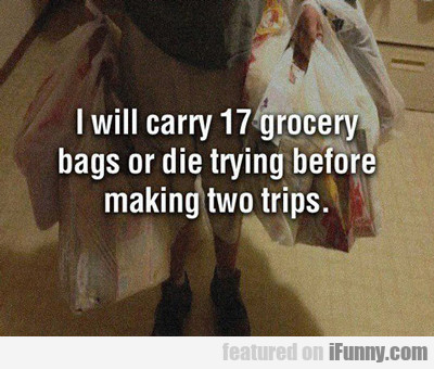 I Will Carry 17 Grocery Bags...