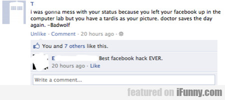 I Was Gonna Mess With Your Status Because You Lef
