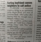 Farting Boyfriend Cause Neighbors To Call Police..
