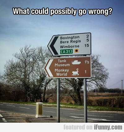 what could possibly go wrong...