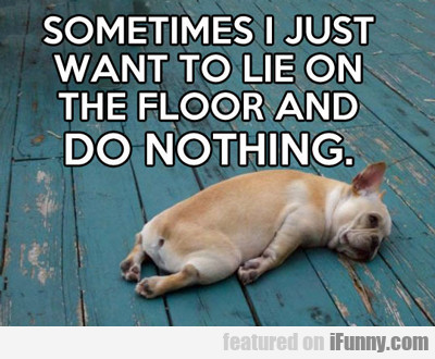 Sometimes I Just Want To Lie On The Floor...