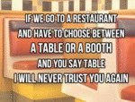 If We Go To A Restaurant...
