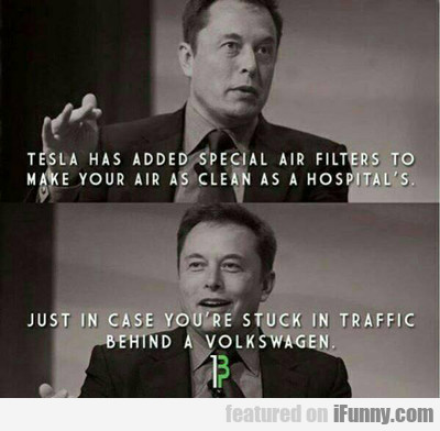Tesla Has Added Special Air Filters...
