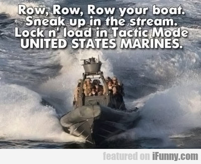 Row, Row, Row Your Boat...