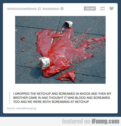 I Dropped The Ketchup...