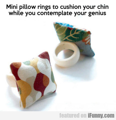 Mini Pillow Rings...