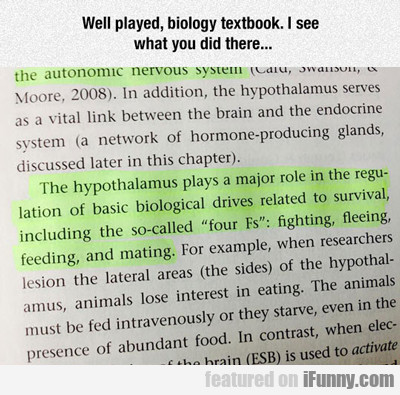 well played biology textbook...