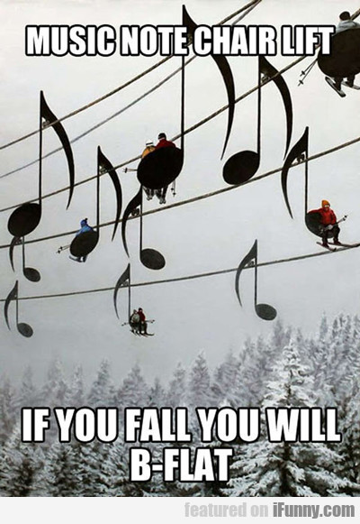 music note chair lift...