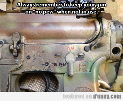 Always Remember To Keep Your Gun On...