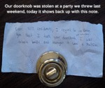 Our Doorknob Was Stolen...