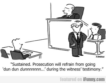 prosecution will refrain from going...