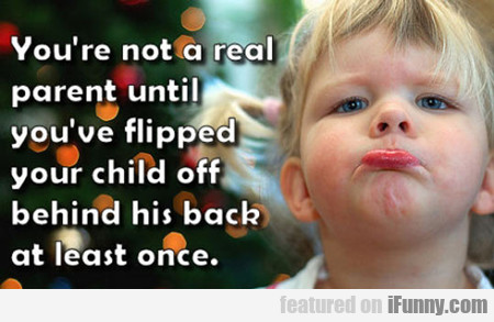 You're Not A Real Parent Until You've Flipped...