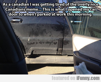 as a canadian i was getting tired...