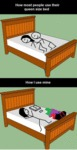 How Most People Use Their Queen Sized Bed...