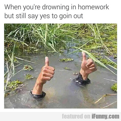 When You're Drowning In Homework...