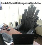 I Work In It, And This Is My New Office Chair...