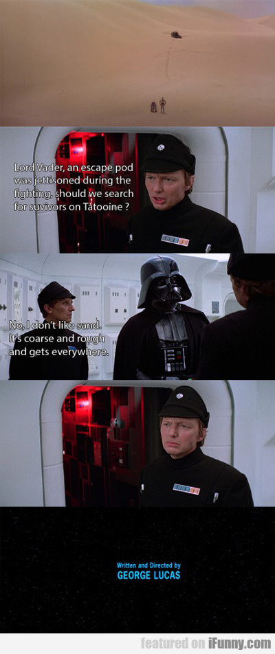 Lord Vader, An Escape Pod Was...