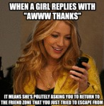 When A Girl Replies...