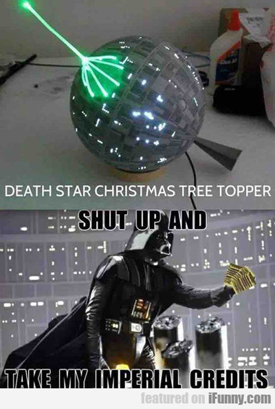 death star christmas tree topper...