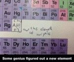 Some Genius Figured Out A New Element...