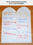 The Ten Commandments According To My...