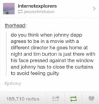 Do You Think When Johnny Depp Agrees To Be In A...