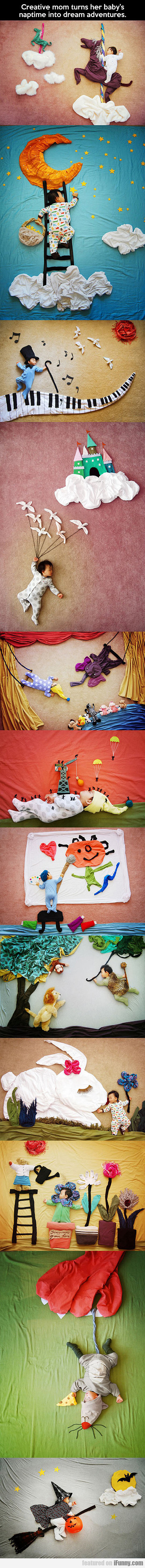 Creative Mom Turns Her Baby's Naptime Into A Dream