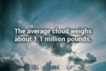 The Average Cloud Weigts About 1.1 Milion