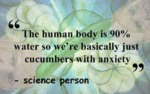 The Human Body Is 90 % Water So We Re Basically