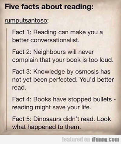 Five Facts About Reading...