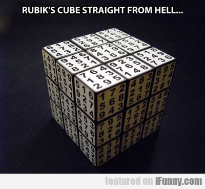 Rubik's Cube Straight From Hell...