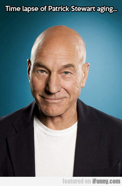 Time Lapse Of Patrick Stewart Aging...