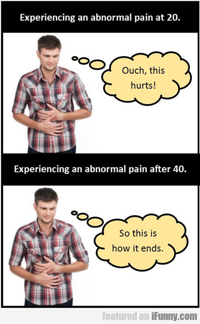 Experiencing An Abnormal Pain At 20...
