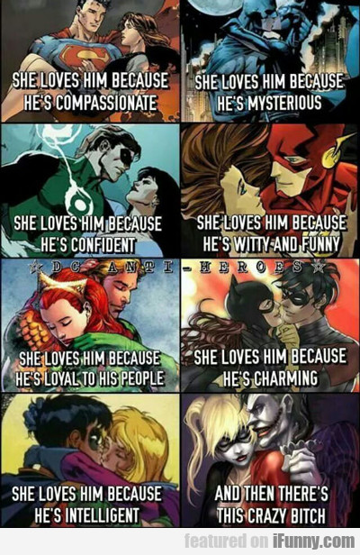 She Loves Him Because He's Compassionate...