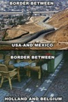Border Between Usa And Mexico...