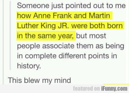 Someone Just Pointed Out To Me How Anne Frank