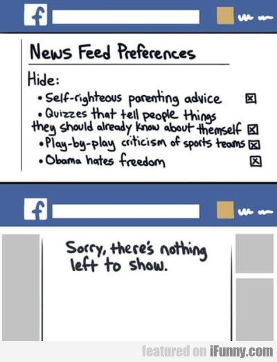 News Feed Preferences