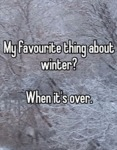 My Favorite Thing About Winter...